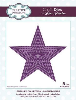 Stitched Collection Layered Stars Craft Die